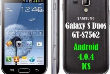 روم أربع ملفات للجهاز GT-S7562 اصدار 4.0.4