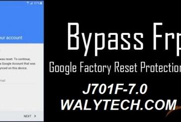 تخطي حساب جوجل للجهاز J701F اصدار 7.0 حماية U1