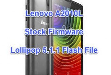 فلاشة احياء الهاتف LENOVO A2010L واصلاح الشاشة اصدار 5.1.1