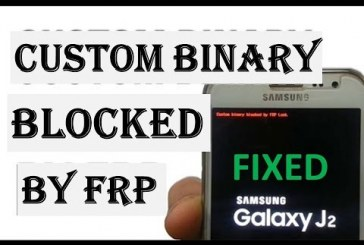 حل مشكلة Custom Binary BLocked By FRP للجهاز G532G