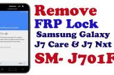 تخطي حساب جوجل للجهاز J701F اصدار 7.0 حماية U3